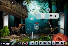 Best math apps for summer review -- Mystery Math Museum. Perfect for older elementary kids!