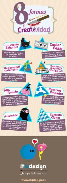 8 formas de matar la creatividad #infografia