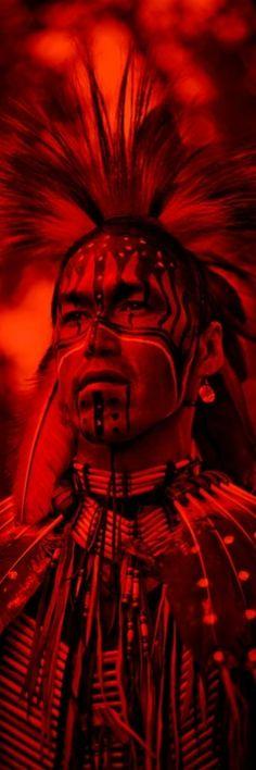 Warrior in full regalia.
