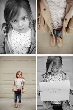 love the perspective on the top two, plus the idea of the child writing their name each year on their back-to-school pictures to show how their handwriting evolves. pinksugarland, andrea hanki
