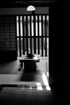 Beautiful photo taken by Ptan Penta of the Nara-machi Lattice House interior.