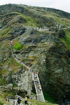 Tintagel stairs, Cornwall, England