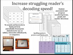 Read with Speed program - reading intervention for struggling decoders.