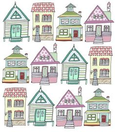 houses. Free pattern