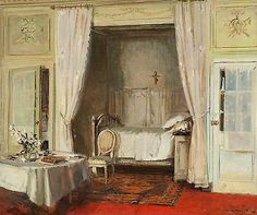 The Bedroom, 1913, by Walter Gay (b. January 22, 1856; Hingham, Massachusetts - d. July 15, 1937)
