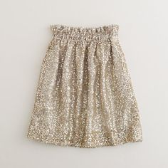 J. Crew sequin mesh bell skirt in OYSTER