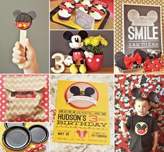 "Inspired by the original 1950′s Mickey Mouse Club, Hudon's Classic & Crafty Mickey Mouse Birthday Party by mommy Cara McGrady of One Swell Studio looks like it was an ""EAR- resistibly good time!"" http://hwtm.me/113FGBB #Mickey   #mickeymouse   #birthdayparty"