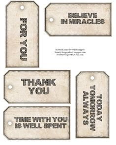 Free Printable Tags - 3 Different Sets