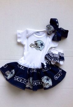 Hey, I found this really awesome Etsy listing at https://www.etsy.com/listing/168040555/dallas-cowboys-dress-babygirl-onesie