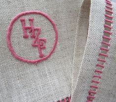 oatmeal linen, pretti monogram, interlock monogram, napkin