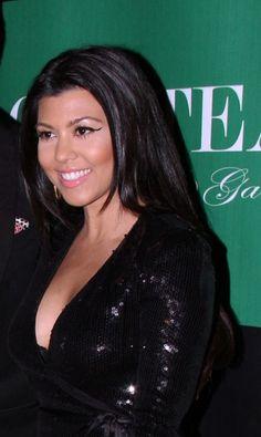 Kourtney Kardashians sleek layers