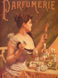 Vintage perfume ad