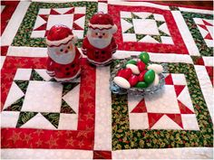 Art Threads: Christmas in July - North Star Quilted Table Runner