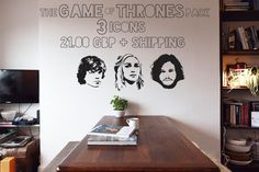 The Game of Thrones Pack  3 x Character Vinyl Wall by IconicWalls, £21.00
