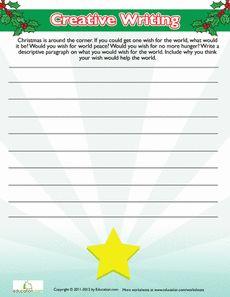 Christmas Creative Writing Worksheet