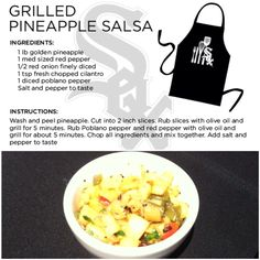 @Chicago White Sox Chef Olegario's grilled pineapple salsa recipe is sure to be a party favorite!