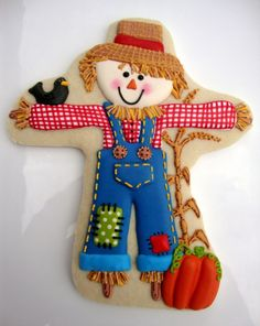 scarecrow cookie by sugarbelle
