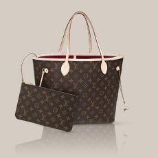 Louis Vuitton Neverfull MM with fuchsia lining