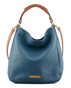 MARC by Marc Jacobs Softy Saddle Large Hobo Bag, Blue - Neiman Marcus