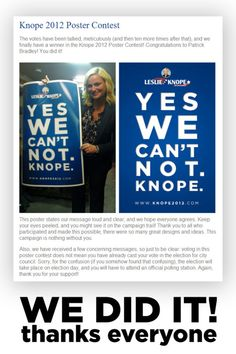 yes we can't not knope.