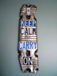 keep calm and carry on license plates