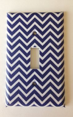 Small Navy Blue and White Nautical Chevron by COUTURELIGHTPLATES, $5.95 nautical room decor, nautical bedroom ideas, nautical nursery #nauticalroomideas #nauticalnursery