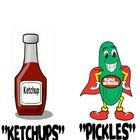 """My students love to """"play"""" pickles and ketchup on Friday afternoons.  First print then cut the cards in half to make to two signs. Laminate and attach magnets to each of signs. Then on Fridays, I place them on the board.  Anyone who has turned in all of their assignments is a """"pickle"""" and I write their name under the pickle sign. Anyone who is missing an assignment has their name placed under the ketchup bottle.  Pickles can """"pick"""" a fun game or activity, while """"ketchups"""" catch up on missing wor"""