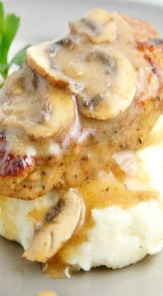 Pork Medallions with Mushroom Marsala Sauce*