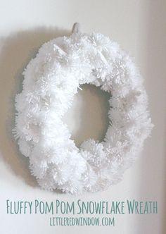 DIY Fluffy Snowflake