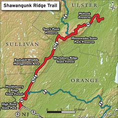 Shawangunk Ridge Trail Overview Map