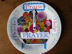 "Lesson 4 - I can pray to Heavenly Father  Children can glue pre-cut pictures onto paper plate in four quadrants: 1) I begin by saying:  ""Dear Heavenly Father ( cut from The Friend) 2) I thank Him for blessings he gives 3) Humbly, I ask for things that I need 4) In the name of Jesus Christ, Amen (cut pics from The Friend)"