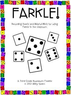 Classroom Freebies Too: Do You Farkle?