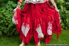Rosalee Desirable Red Gypsy Dancing Skirt by RagsForGypsies, £95.00
