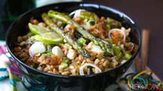 Conquer leftovers with salmon and asparagus fried rice