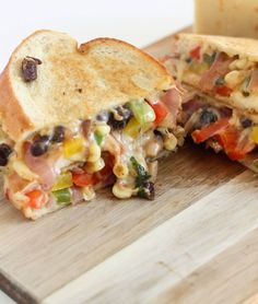 Corn & Black Bean Fajita Grilled Cheese | Bake Your Day