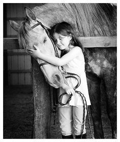 Little Girl With Horse #photos, #bestofpinterest, #greatshots, https://facebook.com/apps/application.php?id=106186096099420