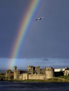A Rainbow over King John's Castle in County Limerick