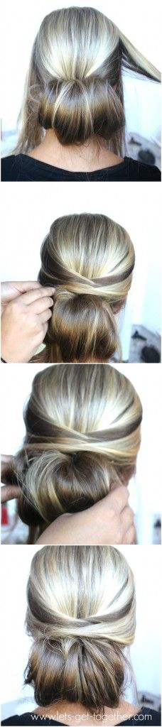 5-Step Dos from Let's Get Together - love this one! Click thru for tutorial. #hair #easyhair