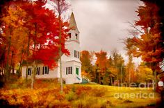 Small white church in the White Mountains, stop and tarry awhile...