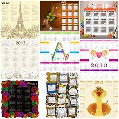 Calendar templates for 2013 vector