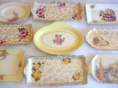 Vintage High Tea Sandwich/Cake Trays ws: The Vintage Table