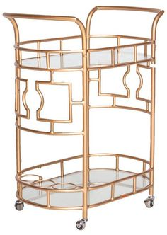 Bar Cart Beauty On Pinterest Bar Carts Gold Bar Cart