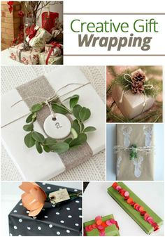 Creative gift wrapping ideas for the holidays   @TheDailyBasics ♥♥♥