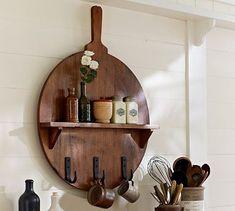 Cuisine Board Shelf with Hooks #PotteryBarn