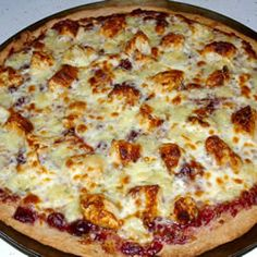 Brie Cranberry and Chicken Pizza Allrecipes.com