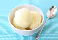 Pineapple Sorbet Recipe on twopeasandtheirpod.com Cool down with this easy sorbet recipe! #sorbet #pineapple #summer