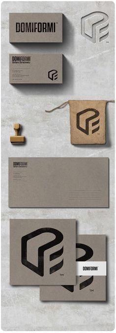 D + F + couch. Logo design for interior design company