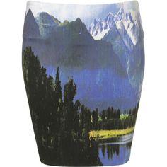mountain landscape skirt