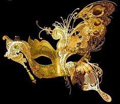 butterfli mask, new orleans, ball, golden butterfli, butterflies