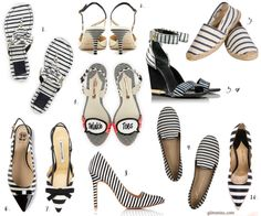 currently loving: black + white striped shoes - glitterinc.com #stripes